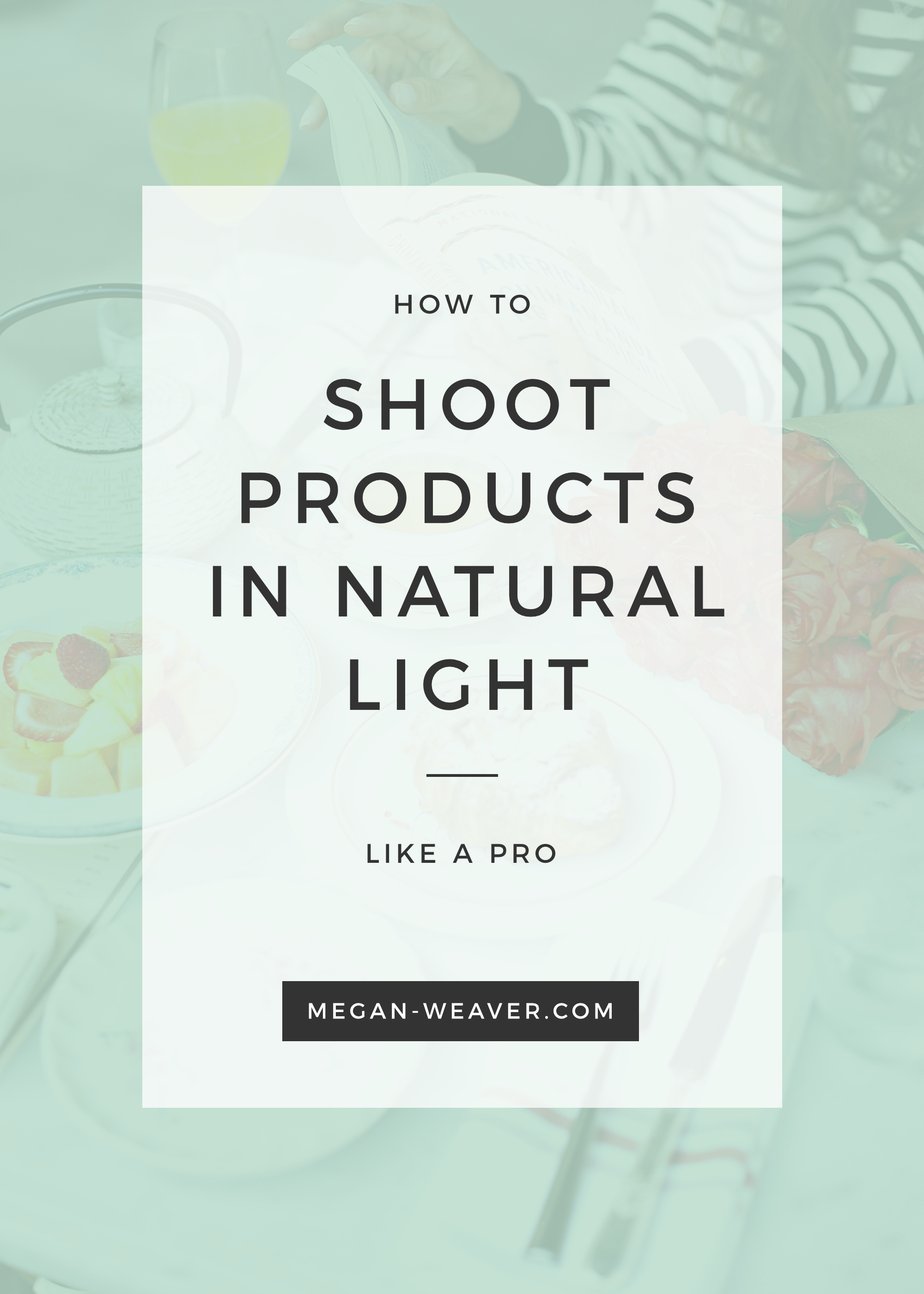 Ever wonder how avid Instagram-ers get those perfectly bright product photos? Learn how to shoot your own gorgeous product shots with this step-by-step tutorial! All you need is a little natural light and $5 worth of tools.