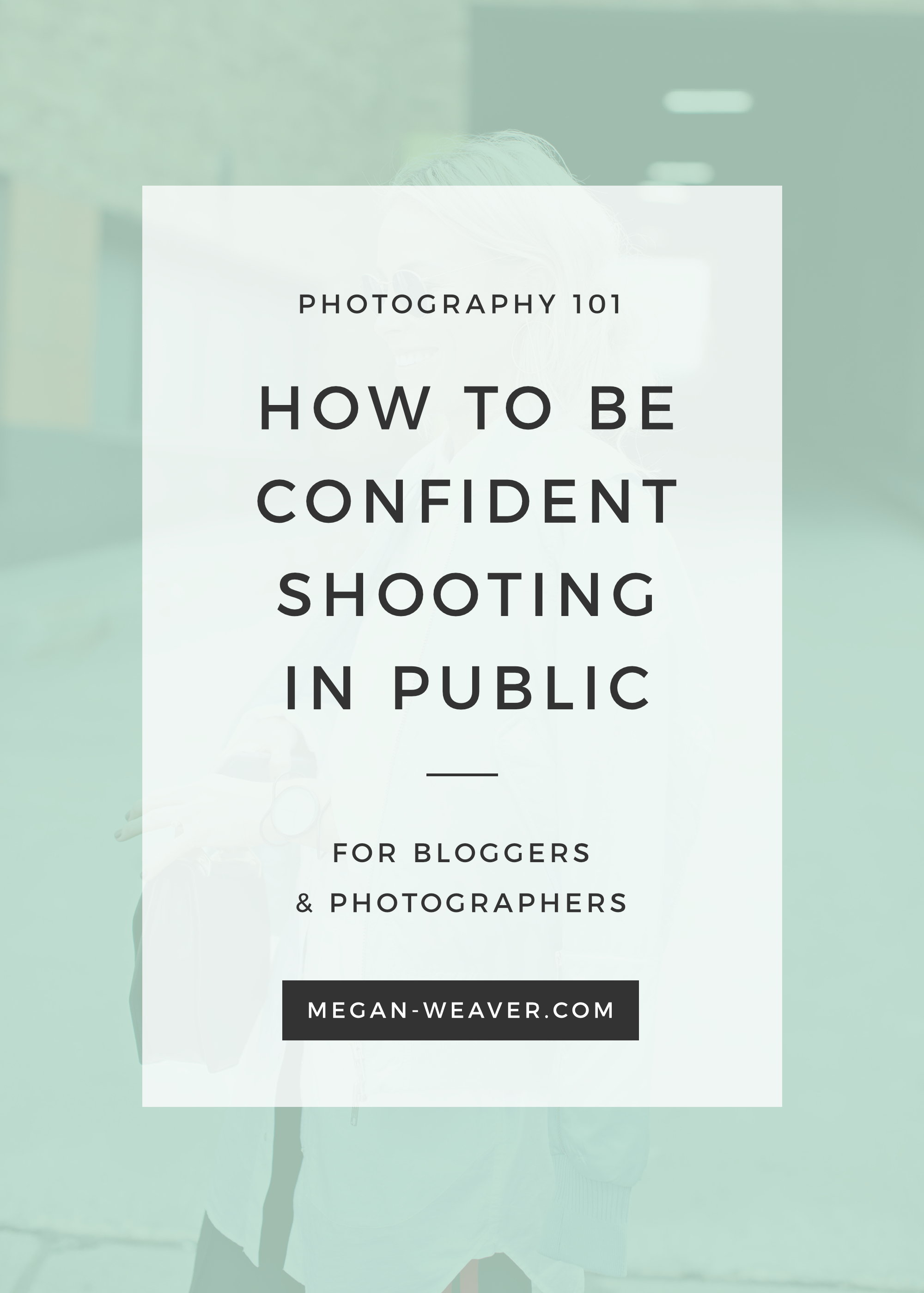 Shooting in public (whether you're the subject or the photographer) can be nerve-wracking, which is why it's great to have an arsenal of tips to remember in your back pocket!
