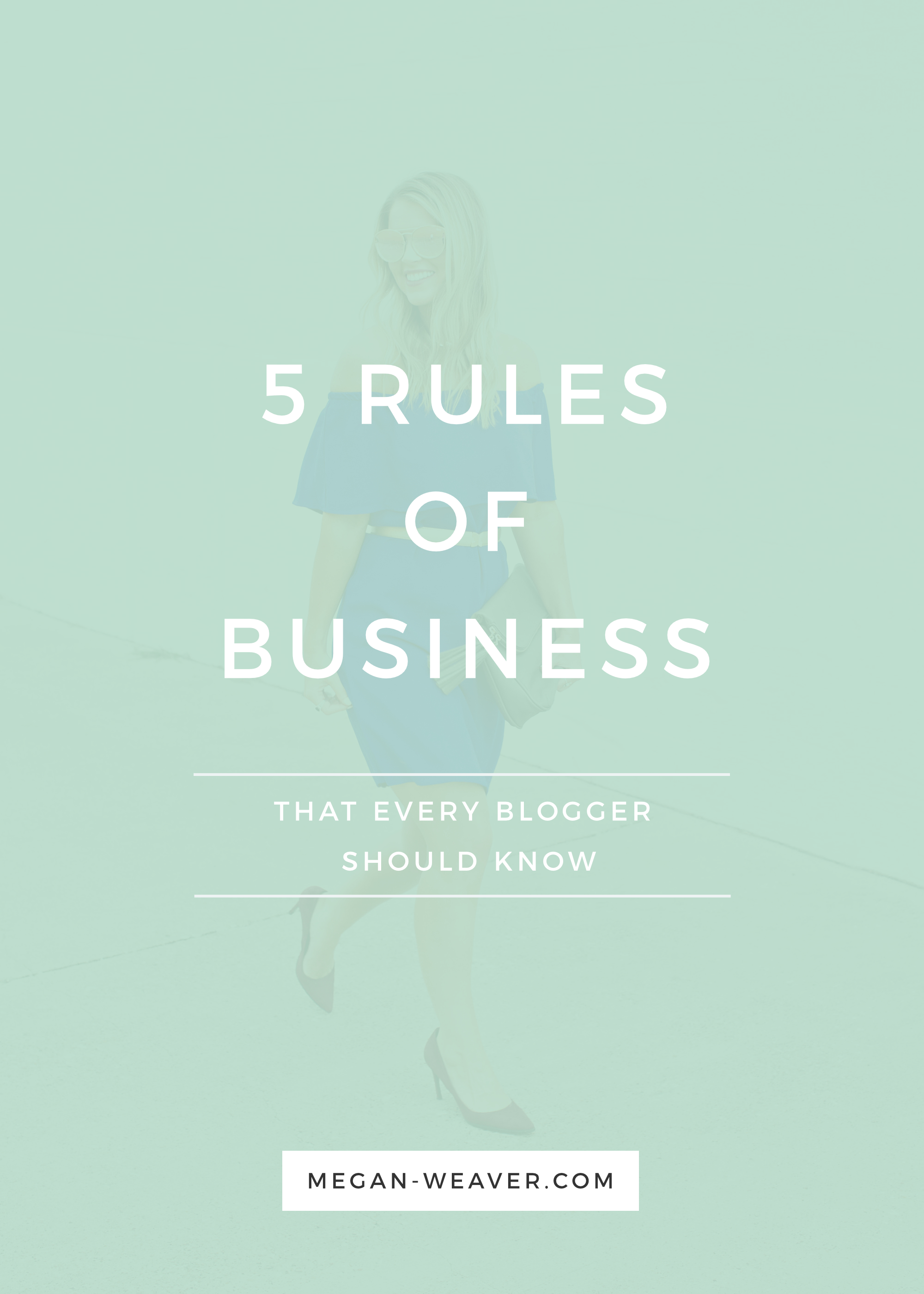 Running a successful blog is the same as running a successful business. From business owner to business owner, I'm sharing the 5 rules I've learned while building up my photography business.