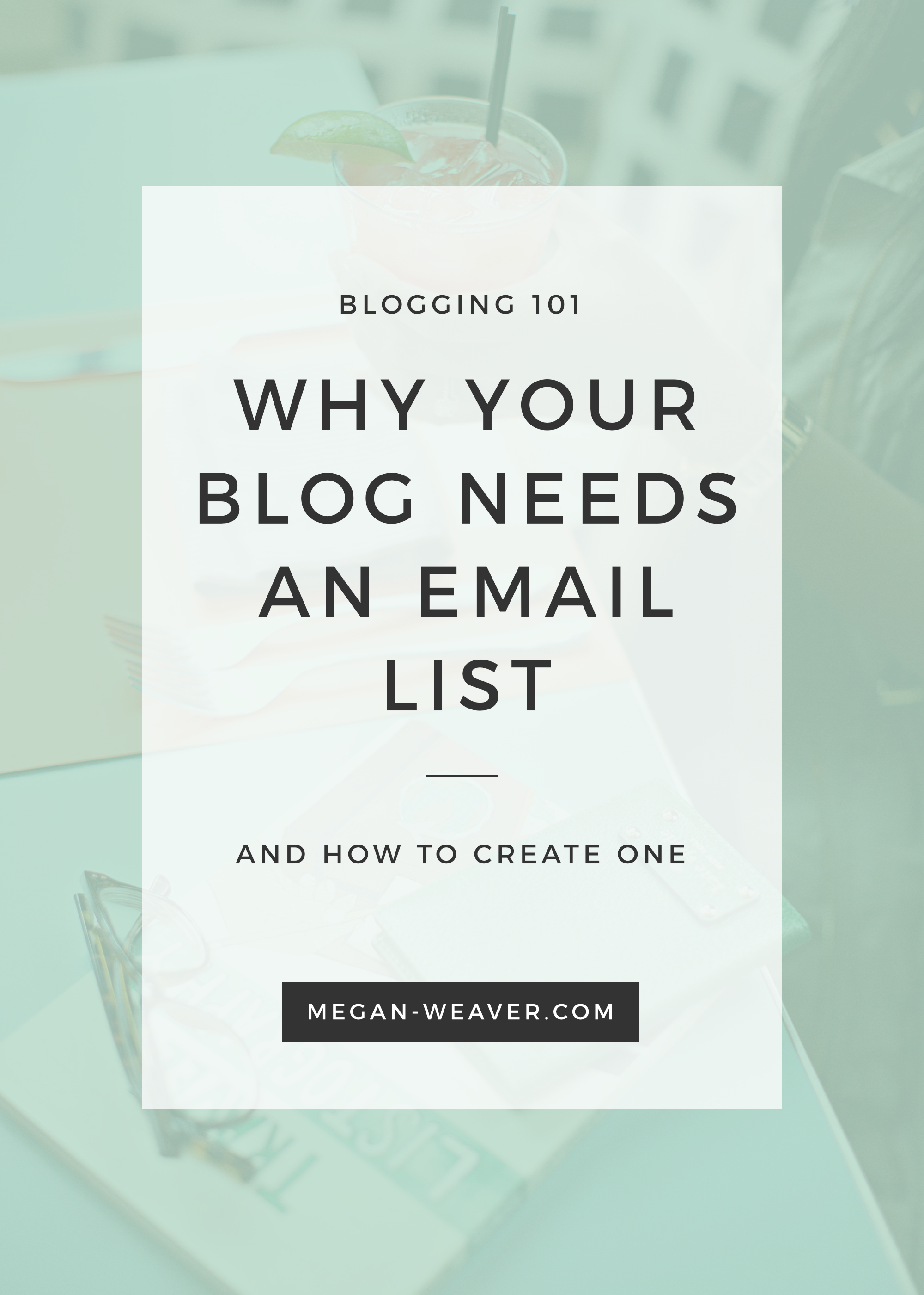 A blogger without an email list is like macaroni without the cheese. Here's why your blog NEEDS an email list — and how to start one!