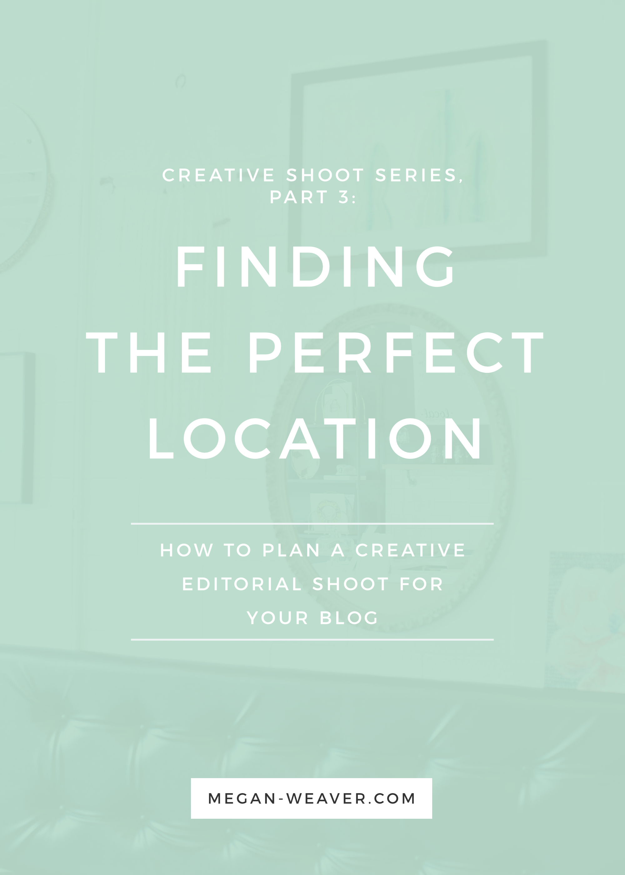 When you're planning a creative editorial photoshoot, one of the most time-consuming parts of the process is finding a location! On Part 3 of our Creative Shoot Series, we'll walk you through finding — and booking — the perfect location for your shoot.