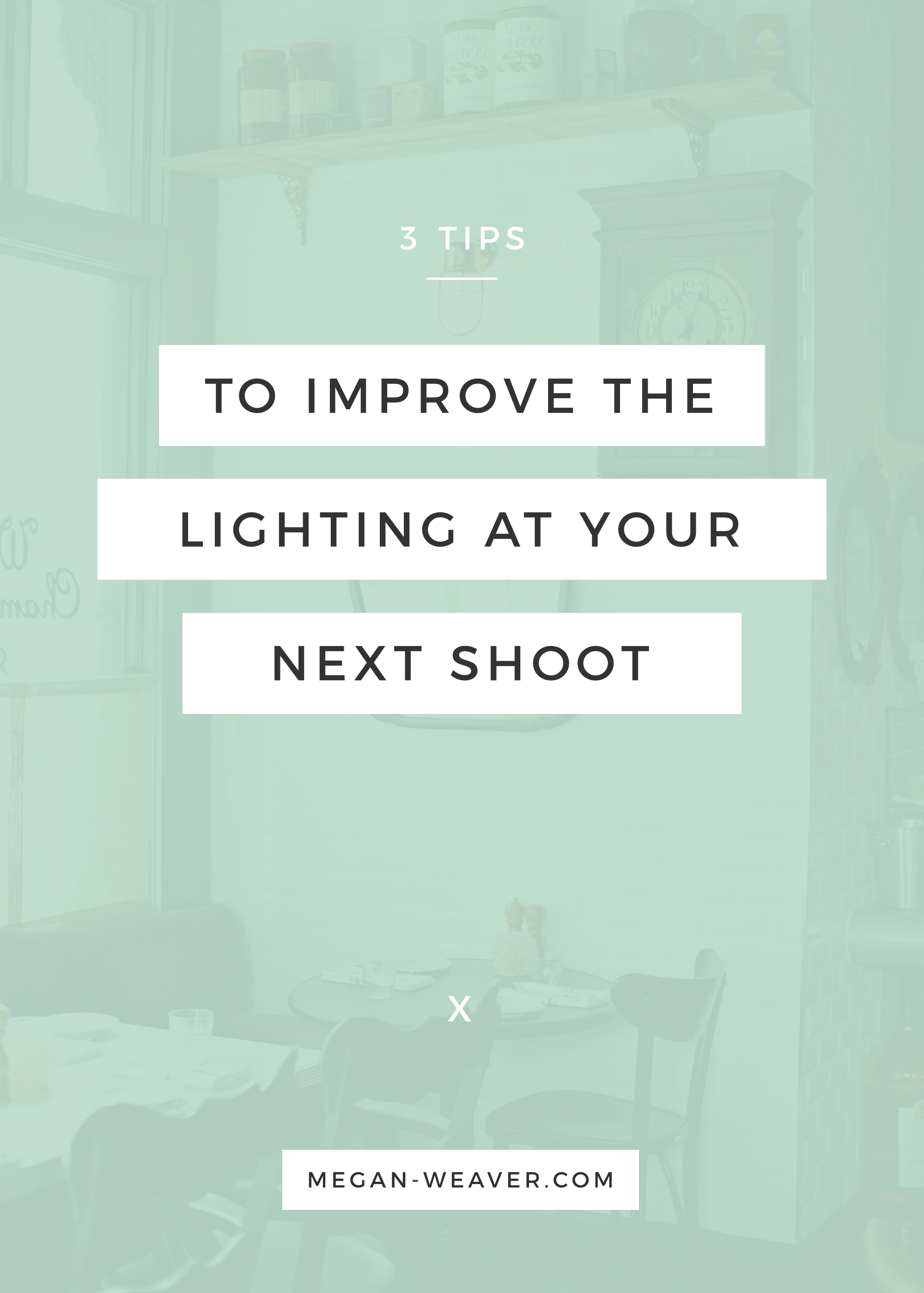 Lighting is hands down the most important component of taking quality photos. Make the best of the lighting in any location with these three tips!