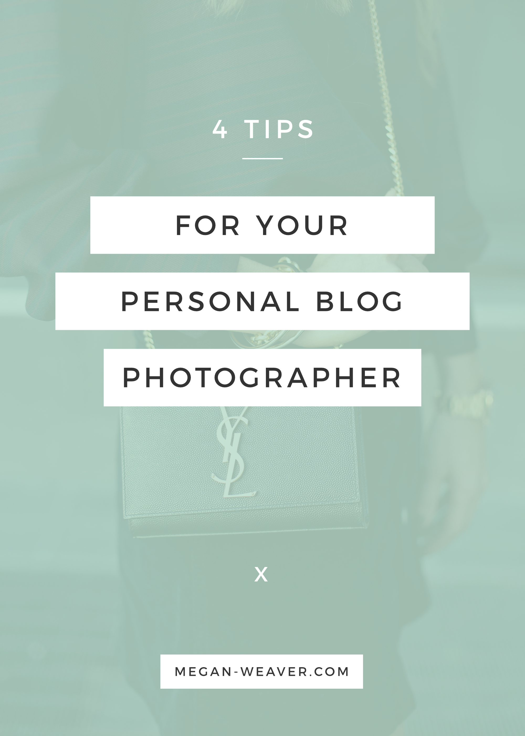 As a blogger, it can be nerve-wracking to put your trust in any one photographer (whether that be your friend or your significant other). Make sure you're getting the shots you want by passing along these four tips for shooting style bloggers!