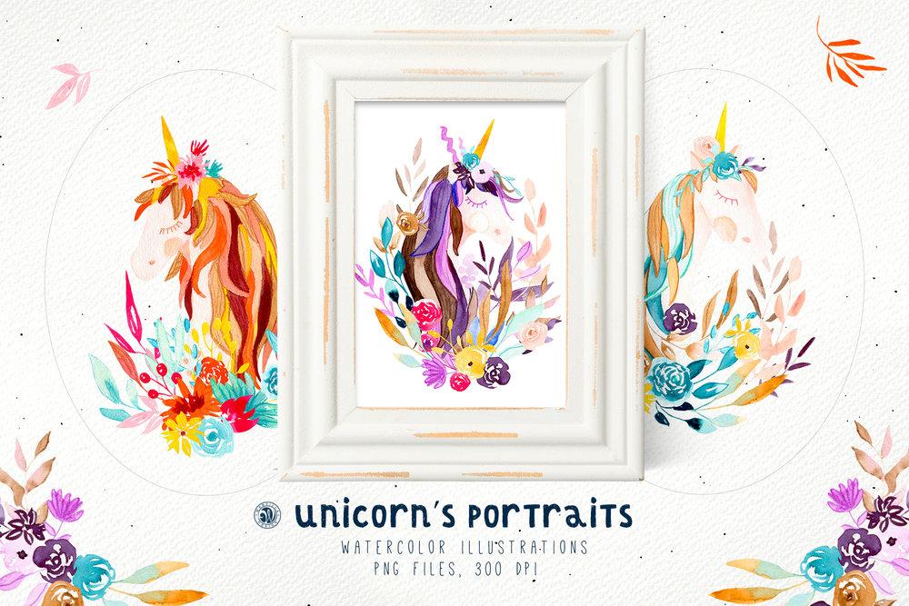 Unicorns Portraits - Price $12