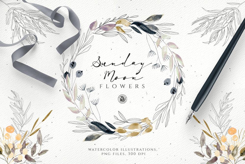 Sunday Moon Flowers - Price $12