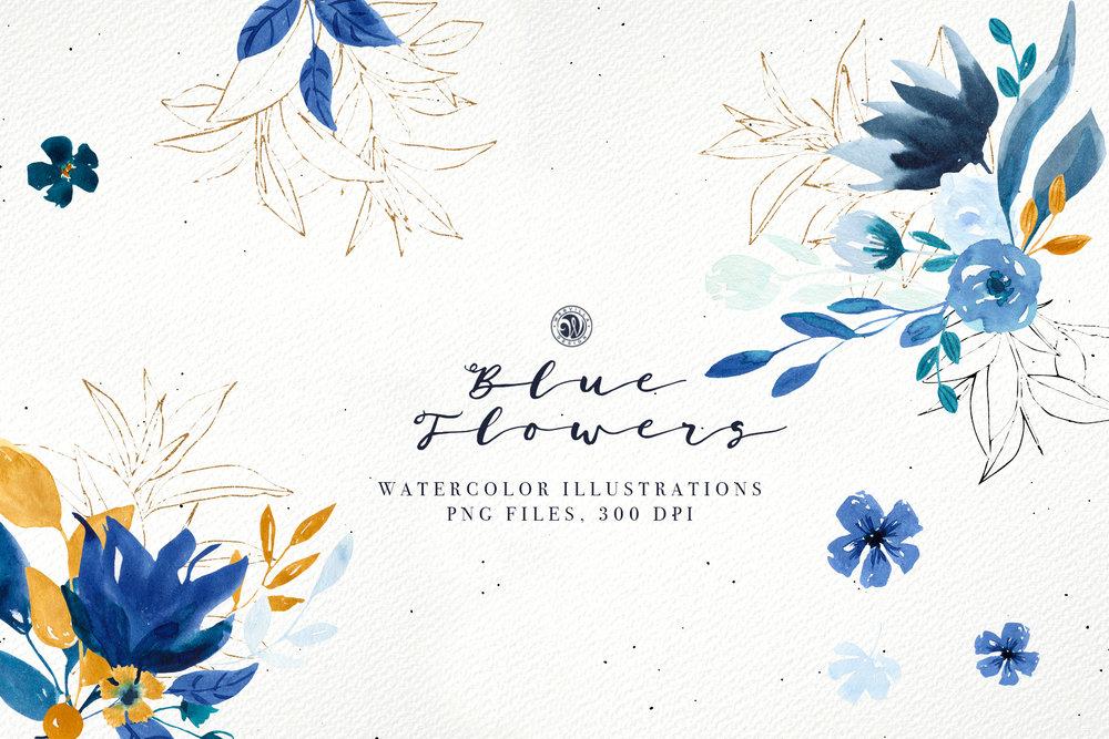 Blue Flowers - Price $11