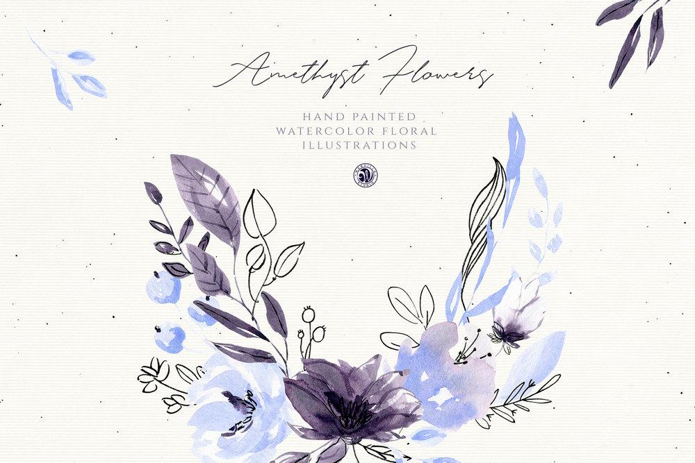 Amethyst Flowers - Price $7