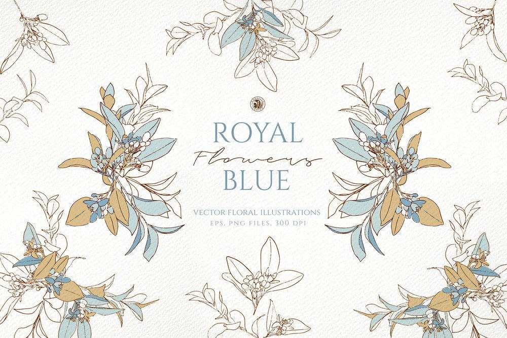 Royal Blue Flowers - Price $12