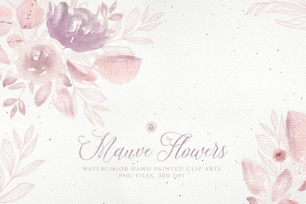 Mauve Flowers - Price $7