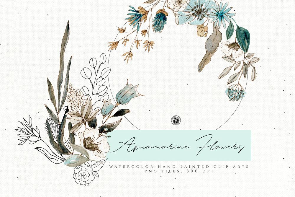 Aquamarine Flowers - Price $12