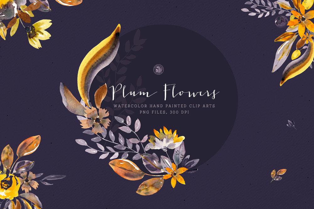 Plum Flowers - Price $11