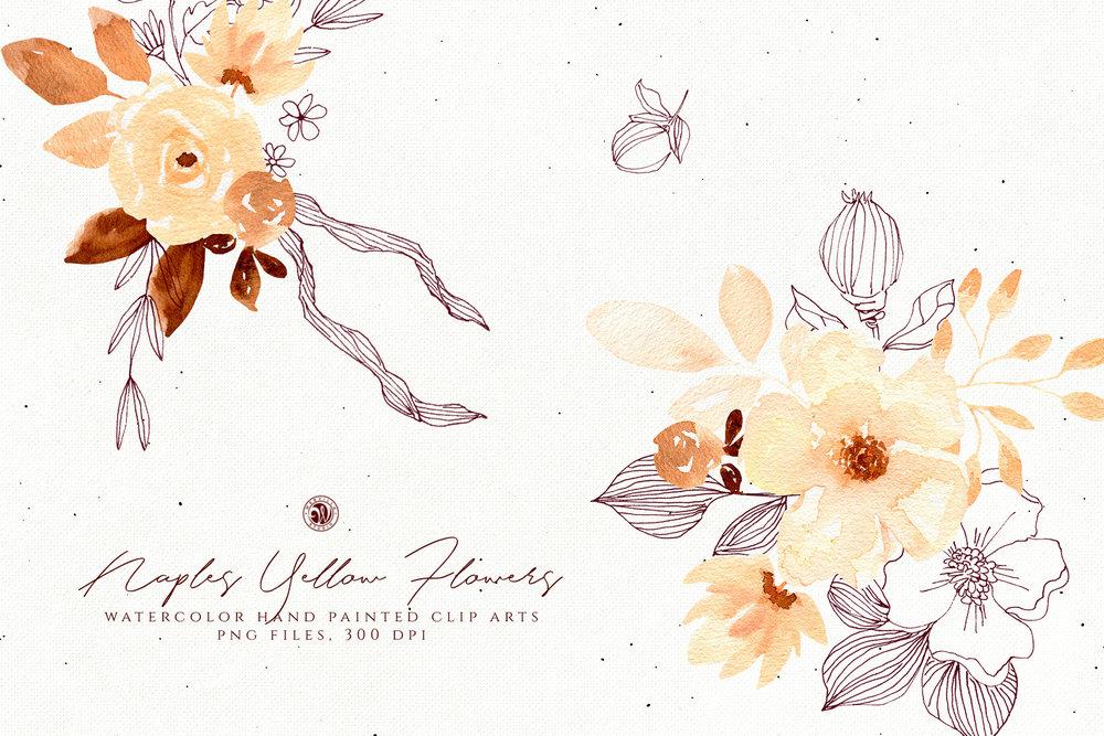 Naples Yellow Flowers - Price $11