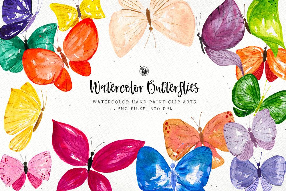Watercolor Butterflies - Price $9