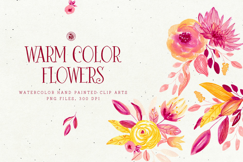 Warm Color Flowers - Price $7