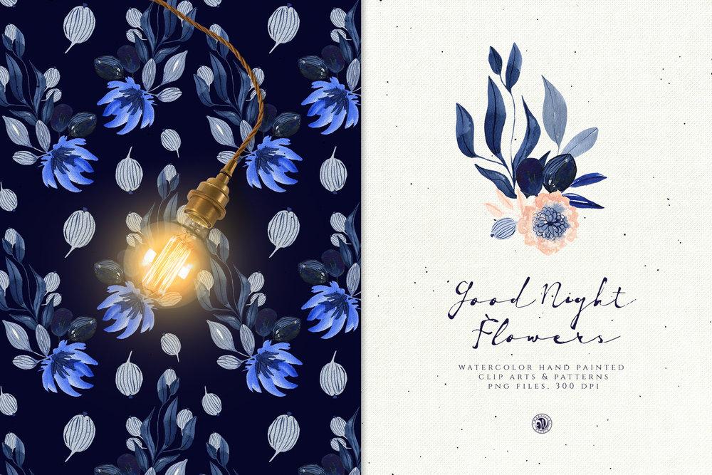 Good Night Flowers - Price $12