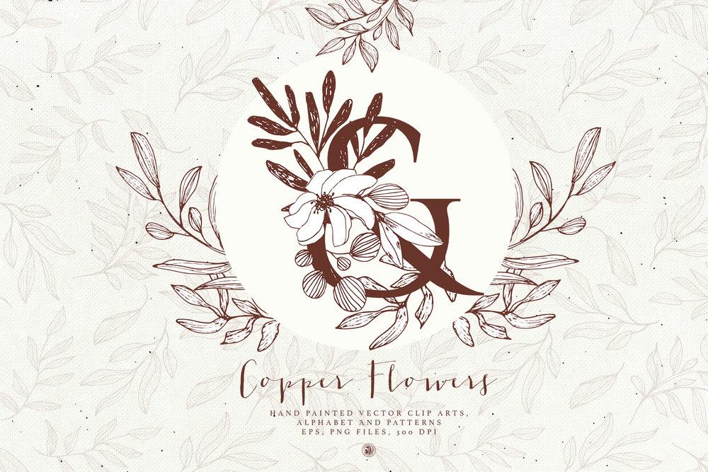 Copper Flowers - Price $16