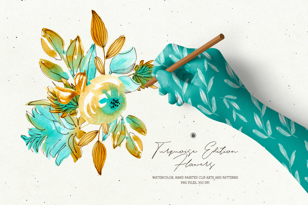 Turquoise Edition Flowers - Price $10