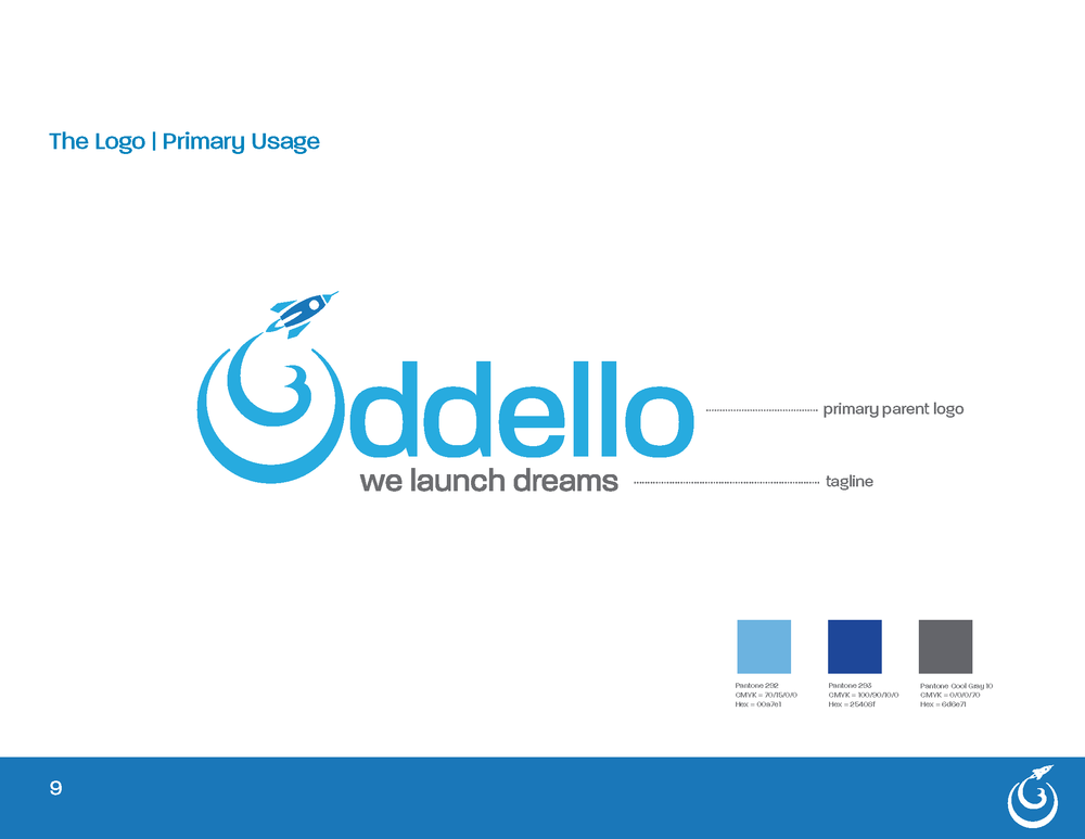 """Corporate Identity - For eight years, Oddello operated without developing a brand - because they were growing at such a fast pace. After going through the Discover phase with Oddello, it was clear that their business was something unique in their industry. They didn't just contract manufacture bed foundations, they solved problems by engineering innovative refinements thereby helping launch custom programs for their customers. It was this unique capability that led to Oddello's central message, """"We Launch Dreams."""""""
