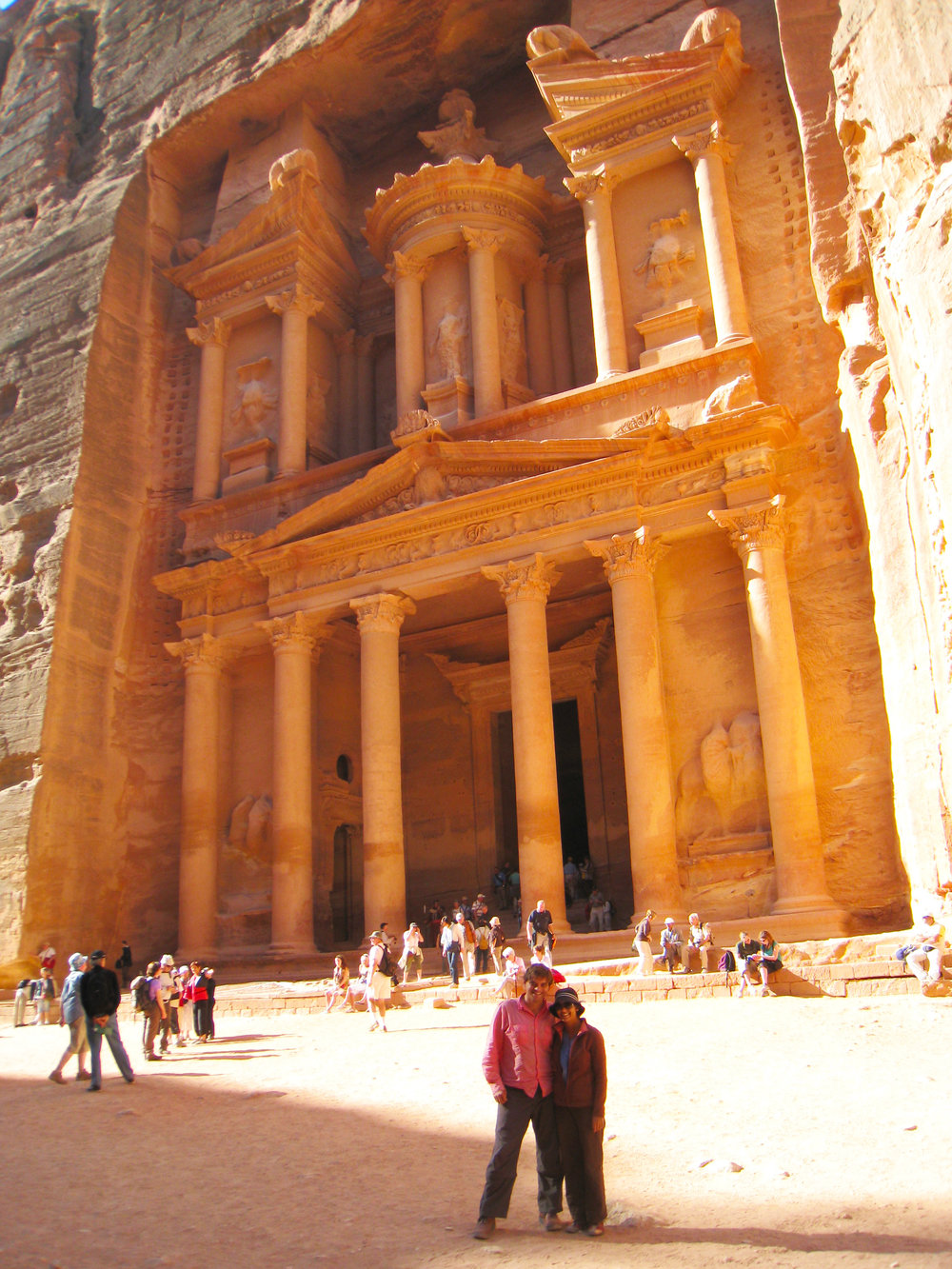 Exploring the pink sandstone temples of Petra, Jordan.