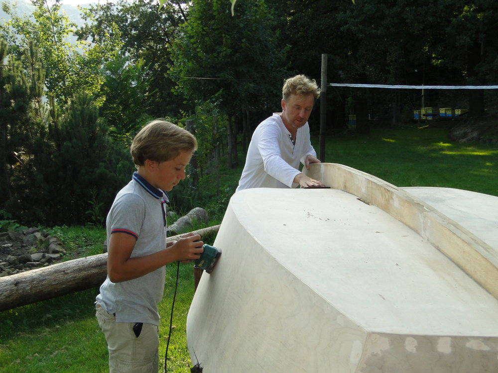 Building a small sailboat