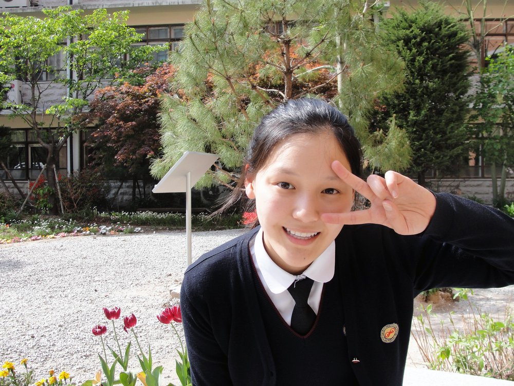 Mary at Changmun Girl's High School, Seoul