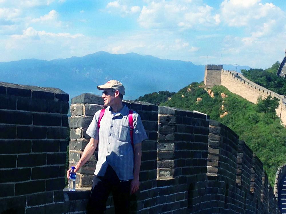Serge at the Great Wall of China