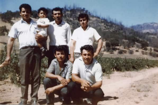 "Circa 1970: Reynaldo, in a family photo, began working in the vineyards in the late 1960s and quickly realized, ""I wanted to be the boss."" Reynaldo Robledo was 16 when he arrived from his small hometown in Mexico's mountains to work for $1.10 an hour in the vineyards of Napa.  (Photo:  Robledo Family Winery )"