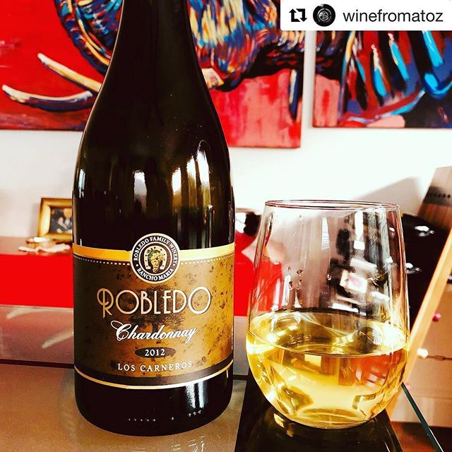 #Repost @winefromatoz  Loving the 2012 Robledo Chardonnay! 🥂✨ It's bright, lightly crisp, and aromatic with the perfect amount of oak. Nice balance and a long silky finish! And plus:  The story & people behind this winery!  The American Dream is possible!