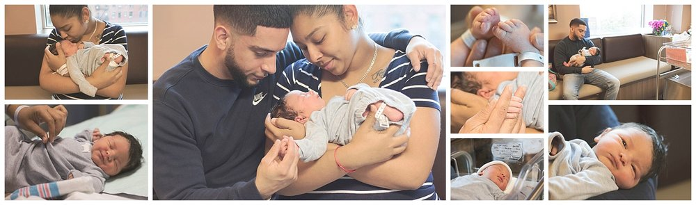 newborn hospital photography of a family in hackensack new jersey