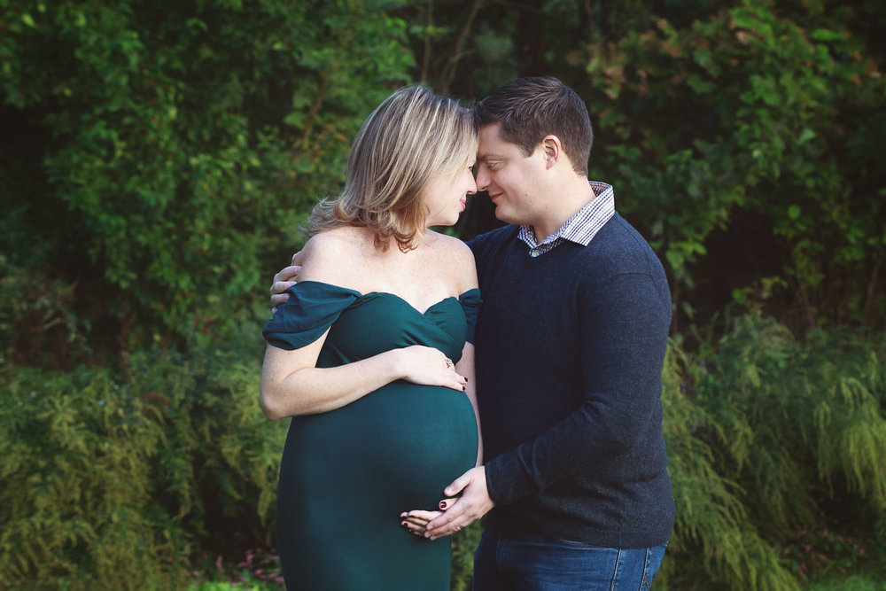 Maternity Photography in Bloomfield, New Jersey. Such a sweet moment!