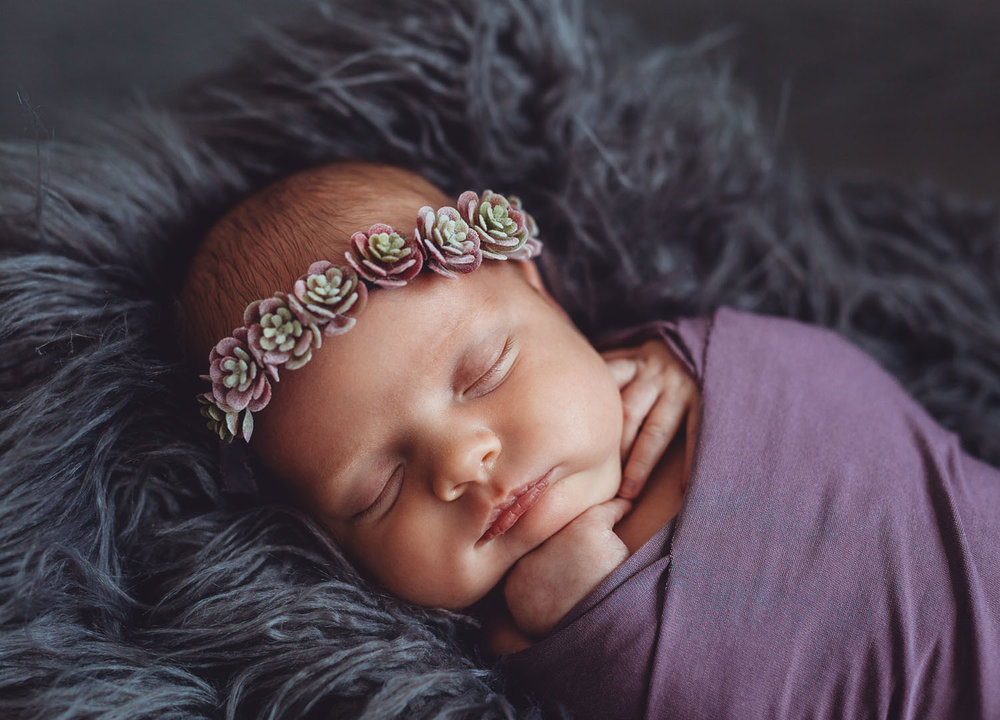 Newborn photography of baby girl in Rutherford, New Jersey