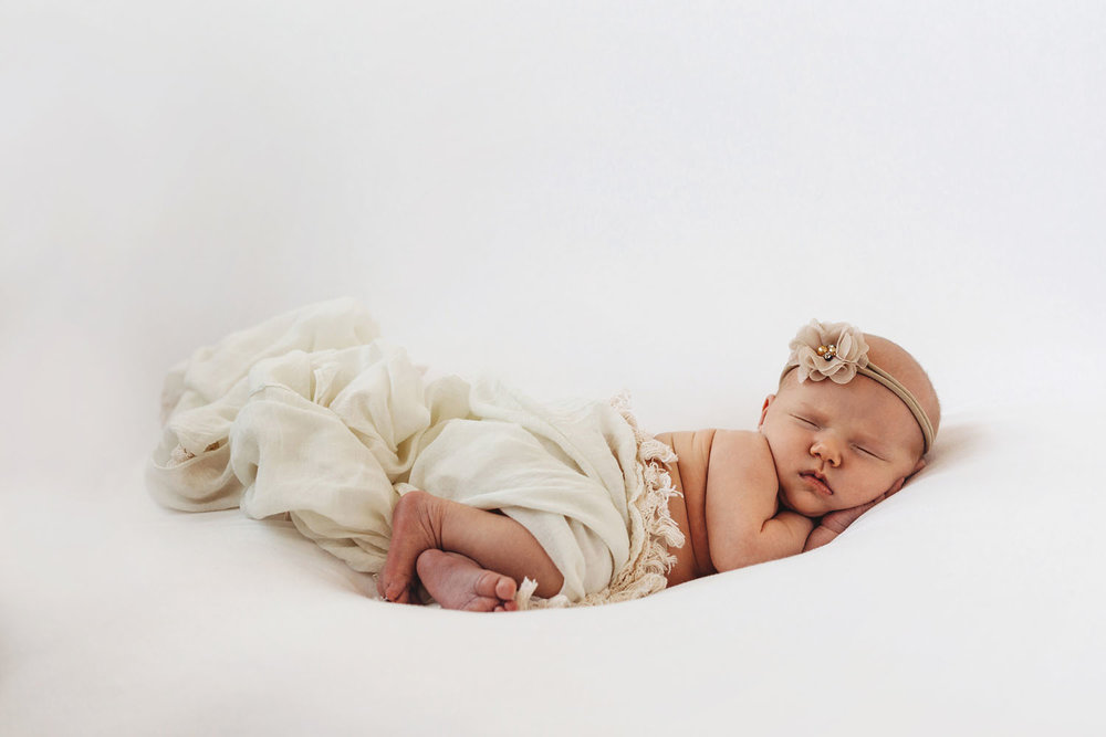 Newborn photography of a baby girl sleeping in Rutherford, New Jersey
