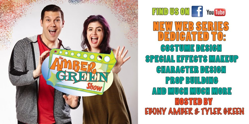 The Amber Green Show is a web series that takes you on a journey into the world of special effects makeup and costume design.