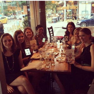 NY Women in Communication's book club talks   Pretty in Ink   over coffee in an East Village cafe.