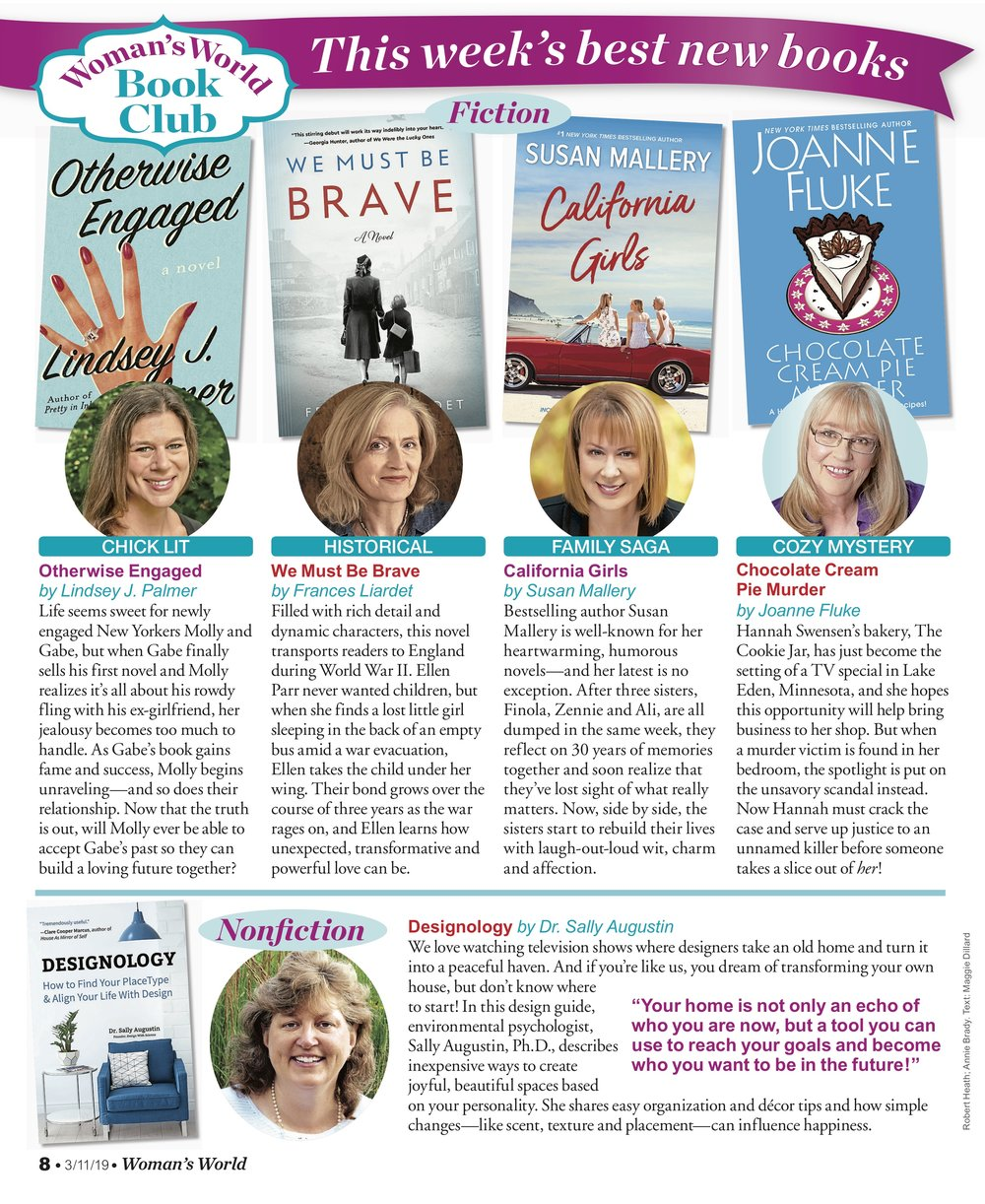 Otherwise Engaged included in  Woman's World  Book Club!