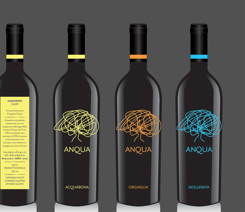Student design for Anqua wine and oil.