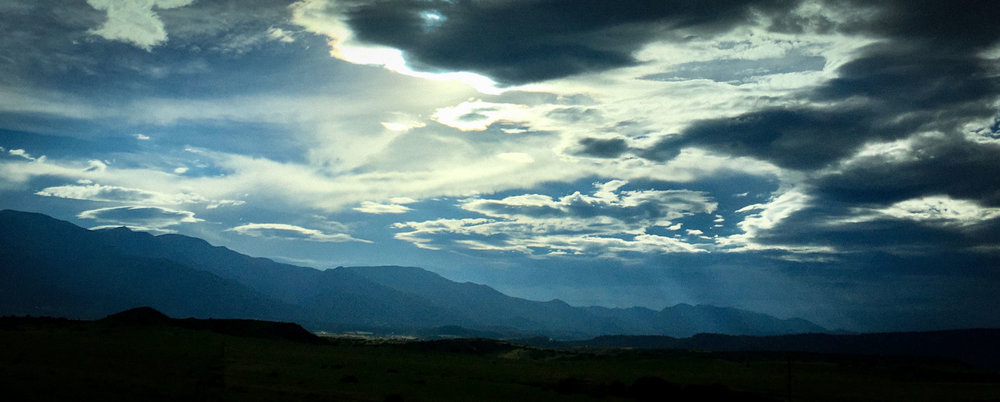 The hills of Colorado, taken from the driver's seat - July