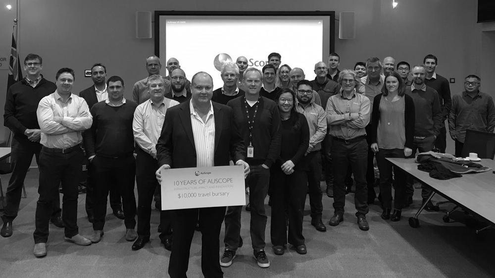 Attendees at Geoscience Australia's GNSS workshop in 2017. Image: John Dawson.