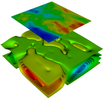 3D inversion of gravity anomaly data in Western Queensland with about 64 million cells (Altinay & Gross,  2018 ).