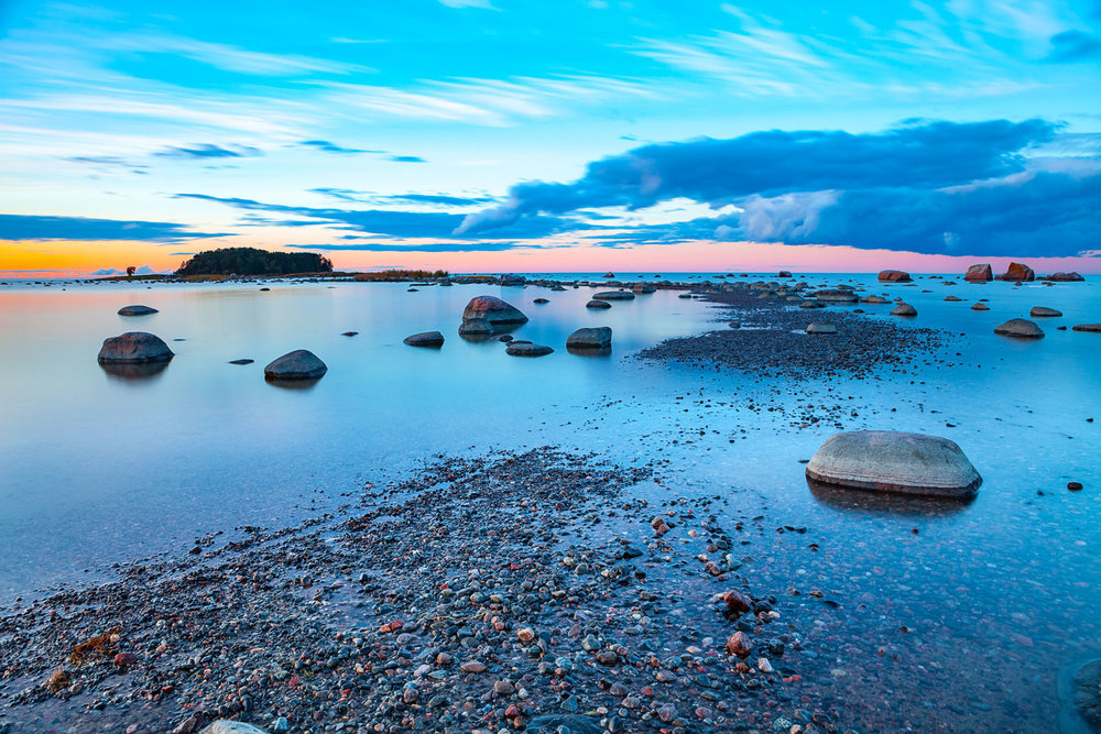 Every rock has a tale, and at the Baltic sea's edge nearby to Dietmar's homeland, there are many. Image:  Egorov.nick via Wikicommons .