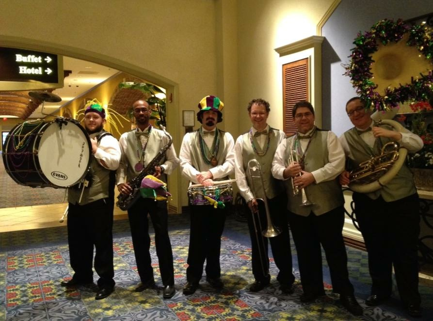 Mardi Gras Band in Louisiana, 2013
