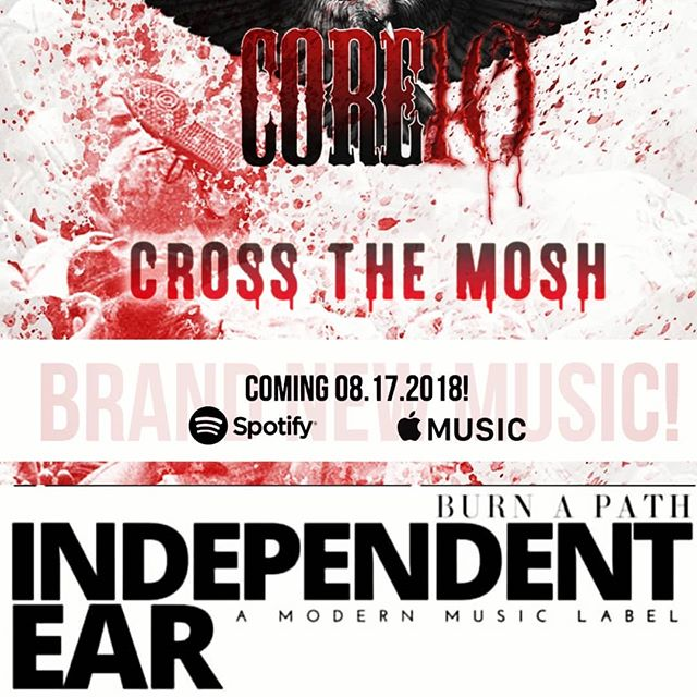 Cross the Mosh in 3 days!! @iamatomflower @independentearofficial @duncan_core10 @phillipryanblock @sesac @iamulrichwild @darianrundall @ronniekingofficial @carolineintl @universalmusicgroup @audiotechnicausa @schecterguitarsofficial @sullenclothing @blackflyseyewear @wedgiepicks @pabstblueribbon #getready #newmusic #spotify #applemusic #independentear #core10theband