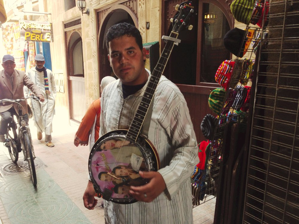 You can find me in the souk hanging out with the dude with a selfie airbrushed on his banjo