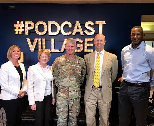 Great time recording our latest podcast episode with Ambassador Kelly and General Sonntag. Stay tuned for the release!