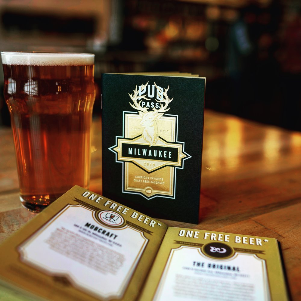 Milwaukee Pubpass - The 2019 Milwaukee PubPass costs $25 and gets you a free beer at 25 of the best bars and breweries in Milwaukee. You have all of 2019 to use it so you can travel to bars and try beers at your own pace.