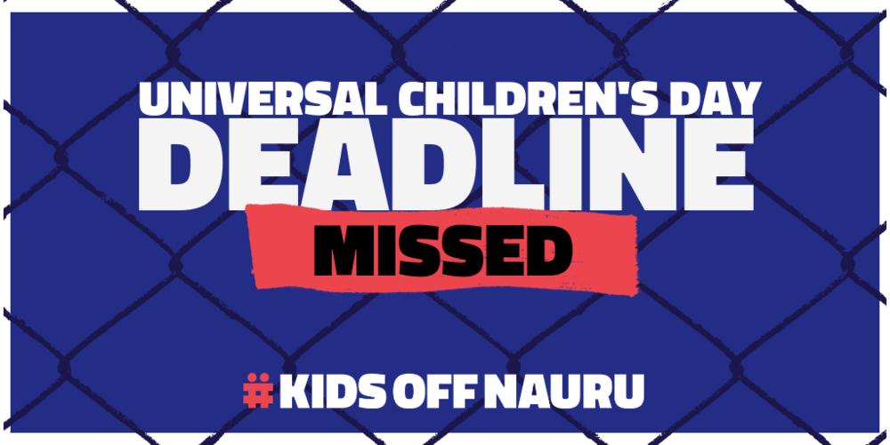 KidsOffNauru-Deadline-Missed