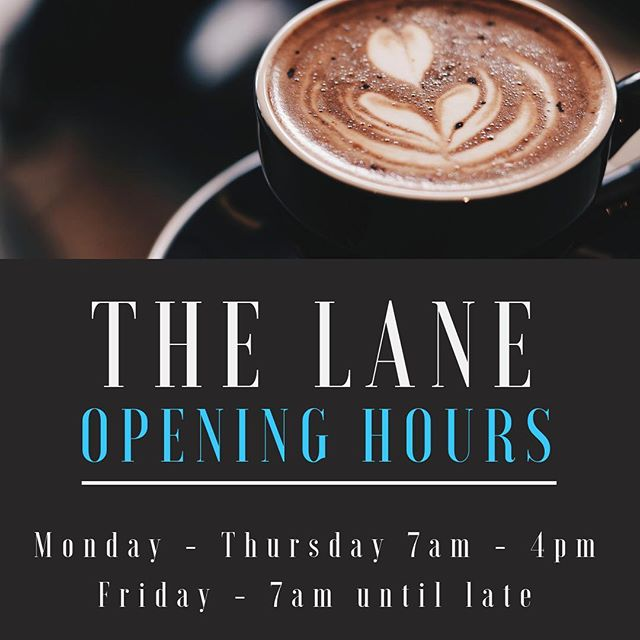 Happy Monday! This weeks opening hours for The Lane 🍴☕️ . . . . #thelane #cafe #restaurant #sydney #CBD #city #monday