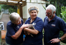 Truly wonderful volunteers Beth and Kevin Griffiths at Kiwi Encounter.