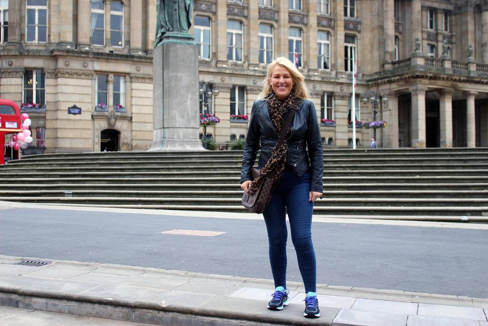 Mum in Victoria Square!