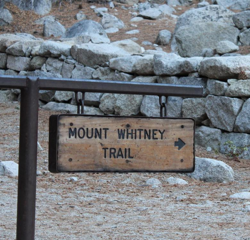 Mt. Whitney Trail sign from Portal